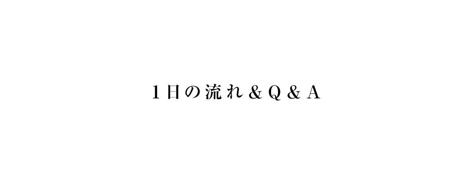 1日の流れ/Q&A